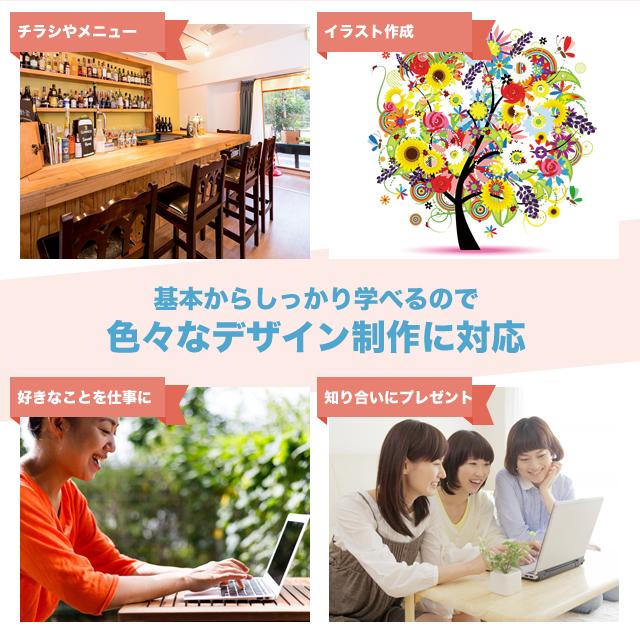 広島 イラストレーター(Illustrator)教室 1日完結【開催4月29日】